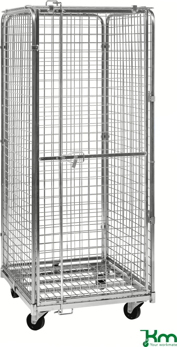 4-sidet sikkerhedscontainer, 72x83x185 cm