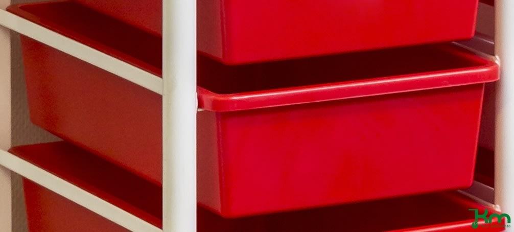 Plastkasse rød, 420x260x105