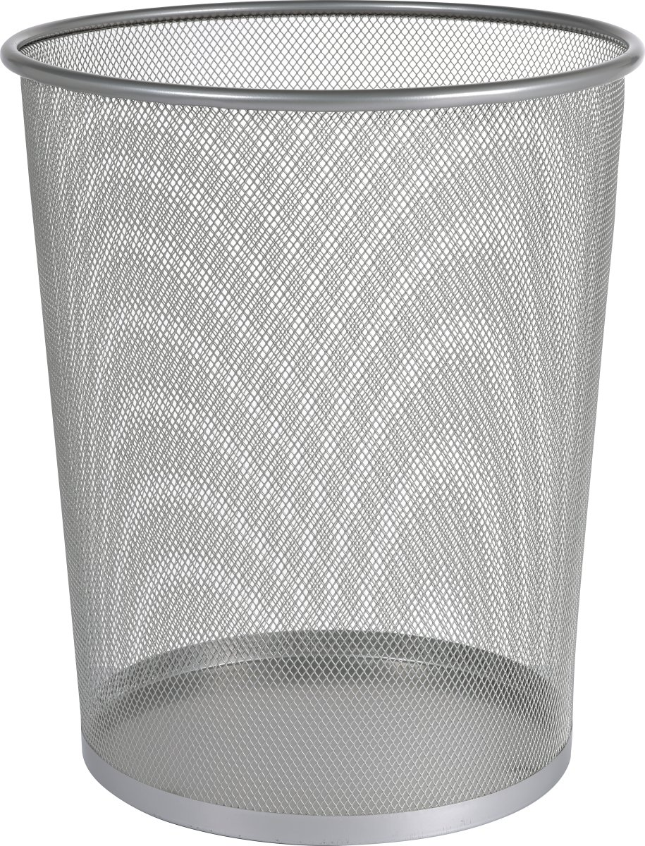Office papirkurv, alu/sølv