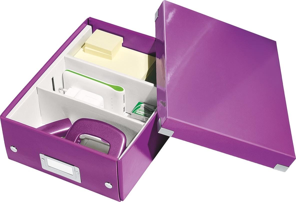 Leitz Click & Store Organizer boks lille, lilla