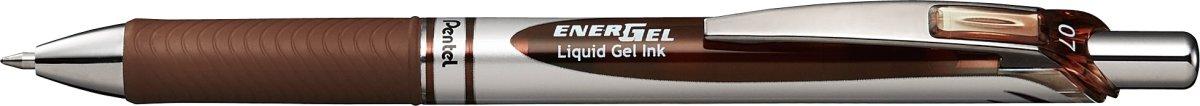 Pentel Energel BL77 Rollerball, brun