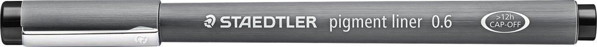 Staedtler Pigment Liner 308 Fiberpen 0,6 mm, sort