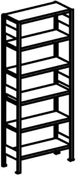 META Clip 230 kg, 250x100x(2x80), Grund, Pulverlak