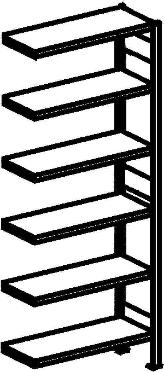 META Clip skab fuld låge,200x100x40,Tilbyg,Pulver