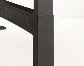 Easy stand 180 hæve/sænkebord centerbue , bøg/sort