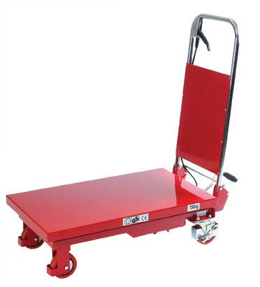 Mobilt løftebord med fodpumpe, 150 kg, 225-740 mm