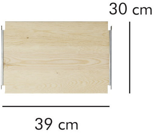 ABC hylde LxD: 39x30 cm, natur