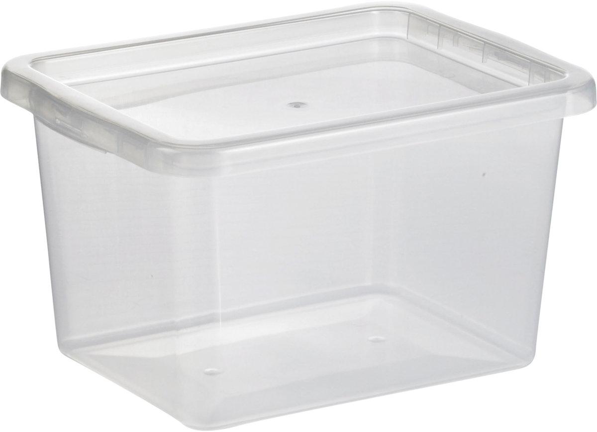 Basic plastboks inkl låg, 13 liter, Klar