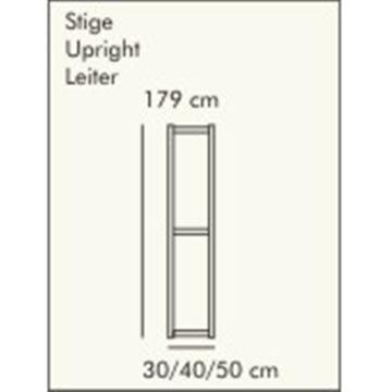 ABC Reolstige HxD: 179x40 cm, hvidlaseret