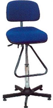 Aktiv arbejdsstol m/ fodbøjle, blå, stof