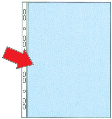 Esselte Premium plastlomme A4, V. side, 0,09mm