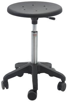 Sigma Stol, fodkryds m/ hjul, sort