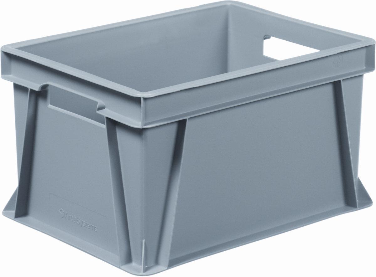 Arca lagerkasse 20 liter, (LxBxH) 40x30x23 cm, Grå