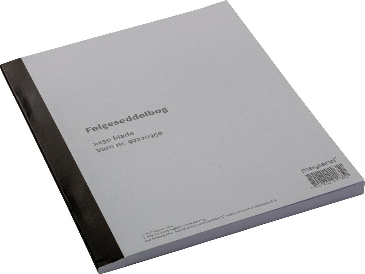 Følgeseddel 2 x 50 blade, 14,8 x 20cm