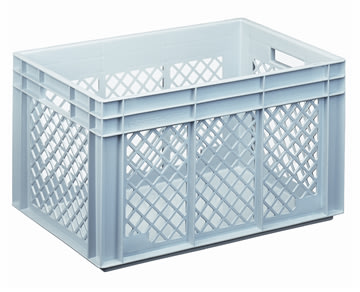 Lagerkasse perforeret 70 liter,(LxBxH) 60x40x34 cm