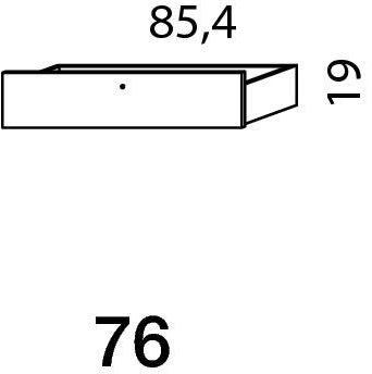 Mistral sektion 076 skuffe light bøg