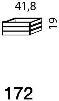 Mistral sektion 172 3 stk. bakker light bøg