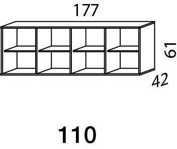 Mistral sektion 110 Skænk Light bøg