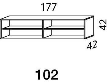 Mistral sektion 102 Lowboard Light bøg