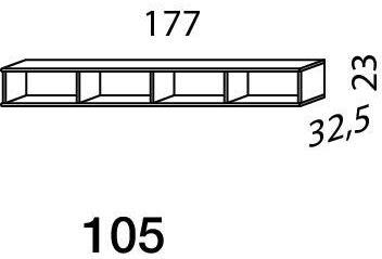 Mistral sektion 105 Lowboard Light bøg