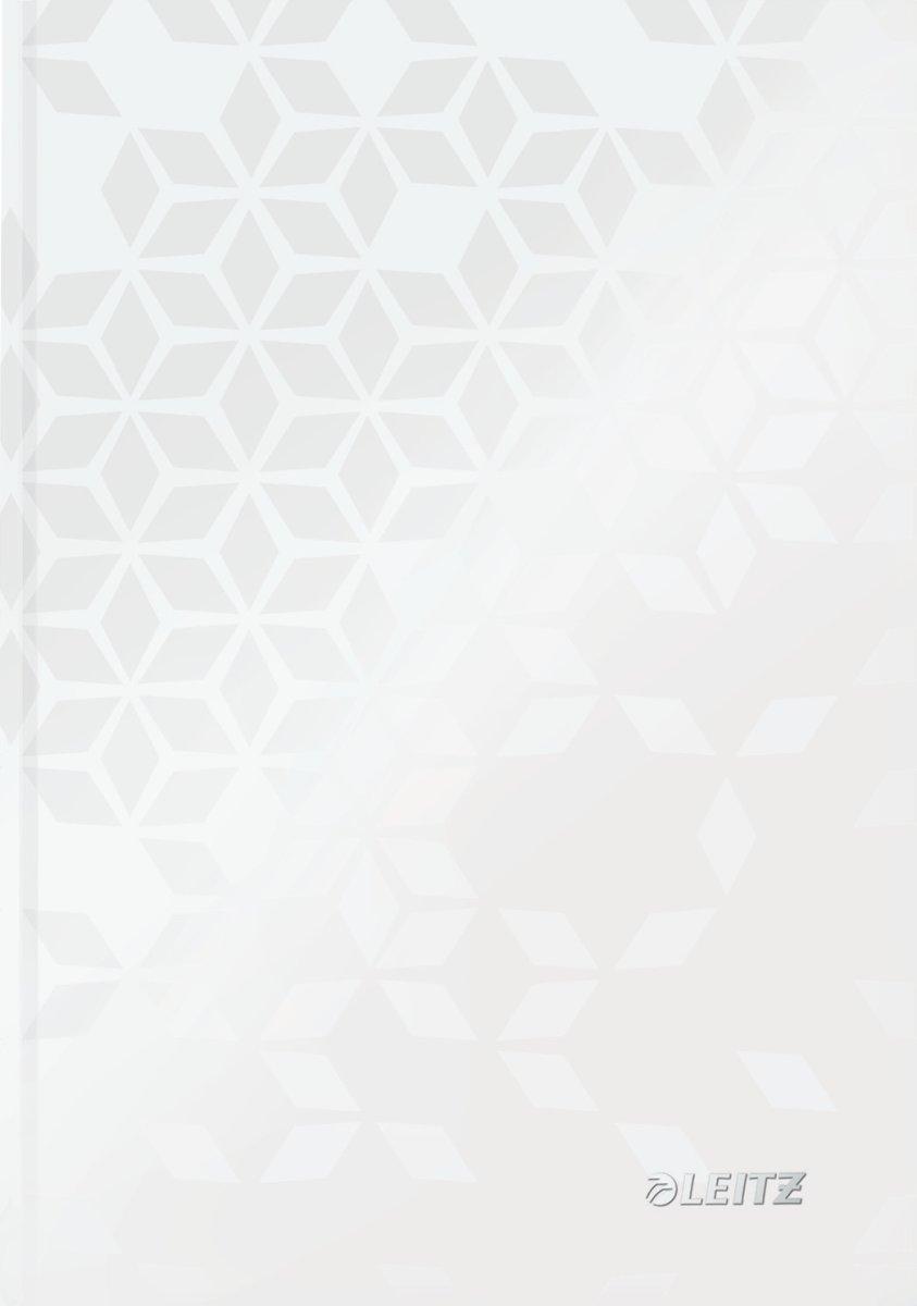 Leitz WOW notesbog A5, linjeret, hvid
