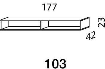 Mistral sektion 103 Lowboard snehvid