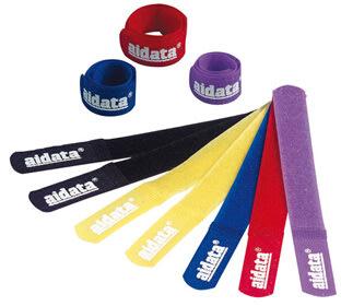 Kabel strips i 5 farver, 10 stk