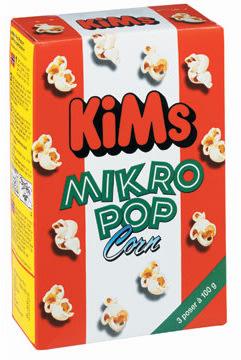 Kim's Mikropopcorn, 3pk