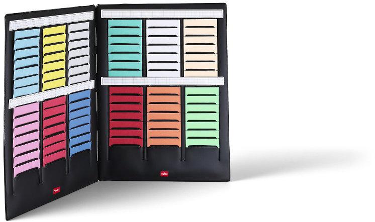 Nobo T card Mini planner str. 2 med 2 isatser