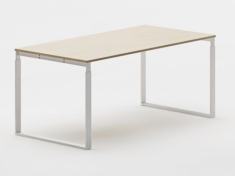 Frame bord 140x80 cm rekt. Bøg finer/ alu stel