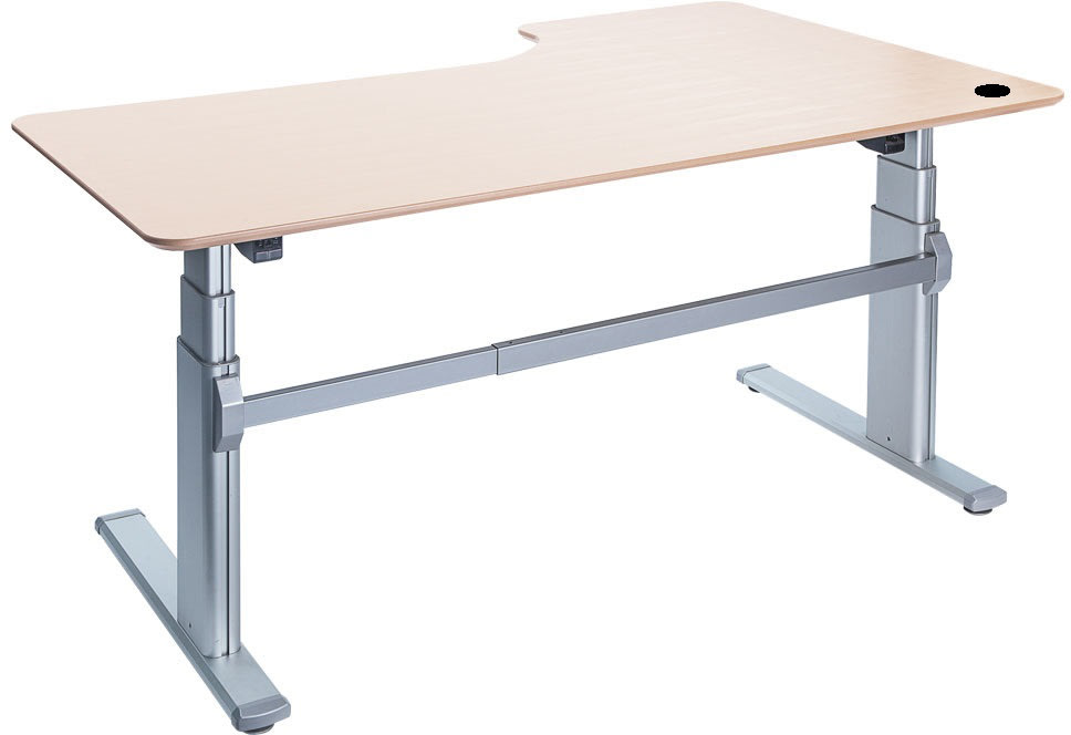 Fly hævesænkebord 200 cm venstre ahorn 72-118 cm