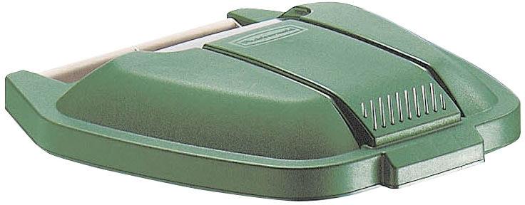 Rubbermaid mobil affaldsbeholder låg, Grøn