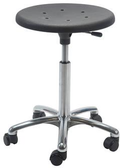Sigma Stol, alu-fodkryds m/ hjul, sort