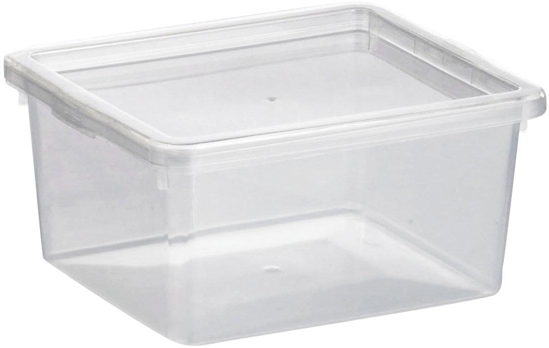 Basic plastboks inkl. låg, 2,0 liter, Klar