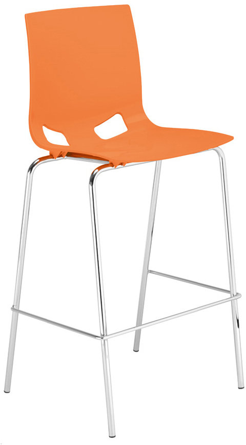Fondo barstol orange/krom
