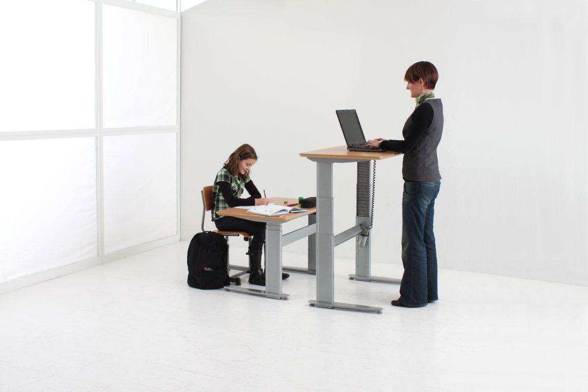 Flexo hævesænkebord 80x160 cm rekt. bøg