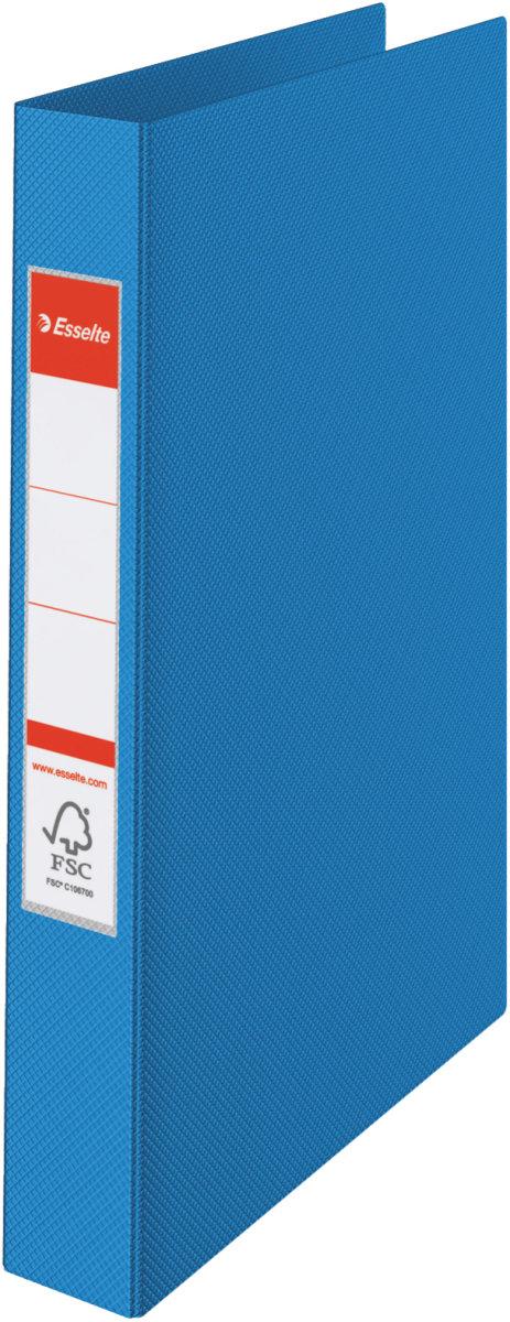 Esselte Vivida ringbind A4, 2 ringe, 25mm, blå