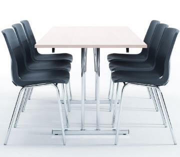Bord med klapstel 80x180 cm, hvid laminat