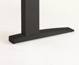 Easy stand 160 hæve/sænkebord centerbue ahorn/sort