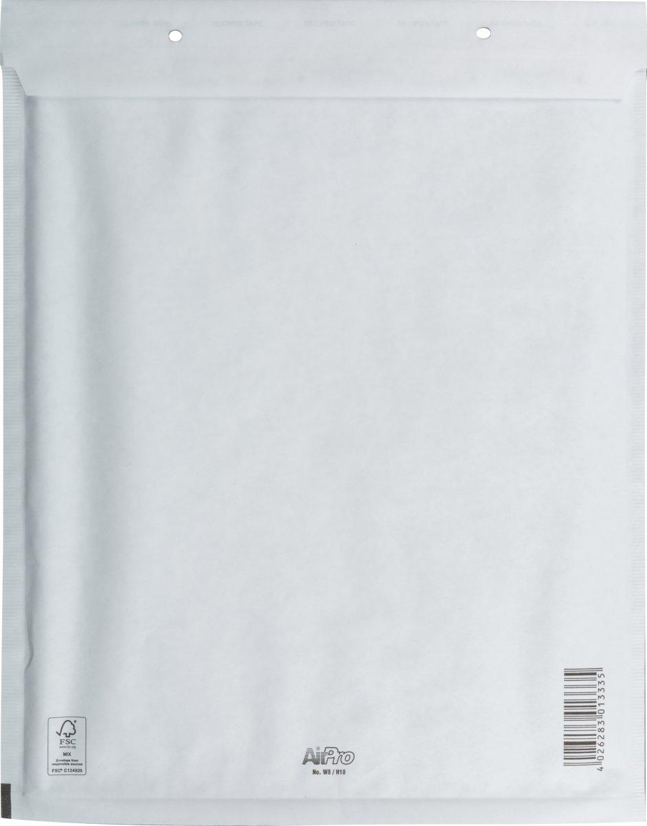 Airpro boblekuvert 290 x 370mm, hvid