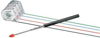 Inddelingstape til whiteboards 3mm x 8m, sort