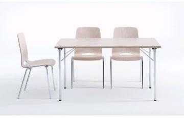 Ultima bord med klapstel 180X80 cm, bøg melamin