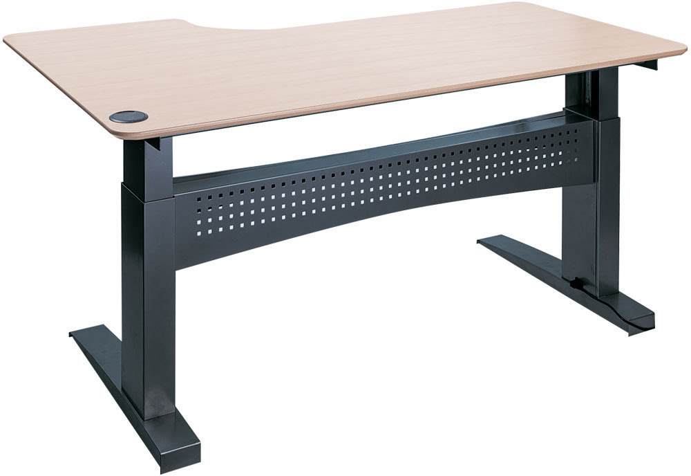 Easy stand 180 hæve/sænkebord højre, ahorn/sort