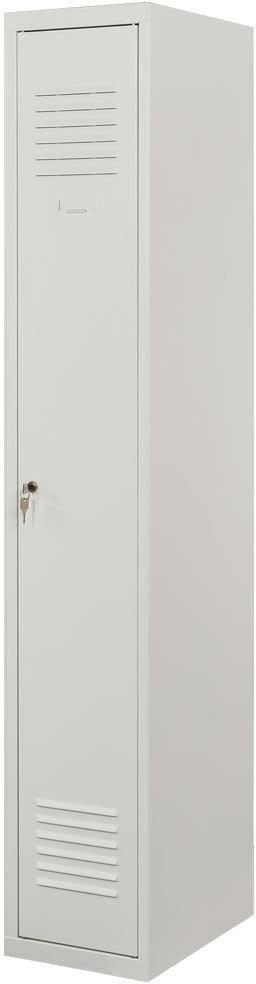 Proff garderobeskab, 1x1 rum,Plan,Cylinderlås,Grå