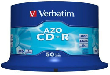 Verbatim CD-R AZO 700MB spindel, 50 stk
