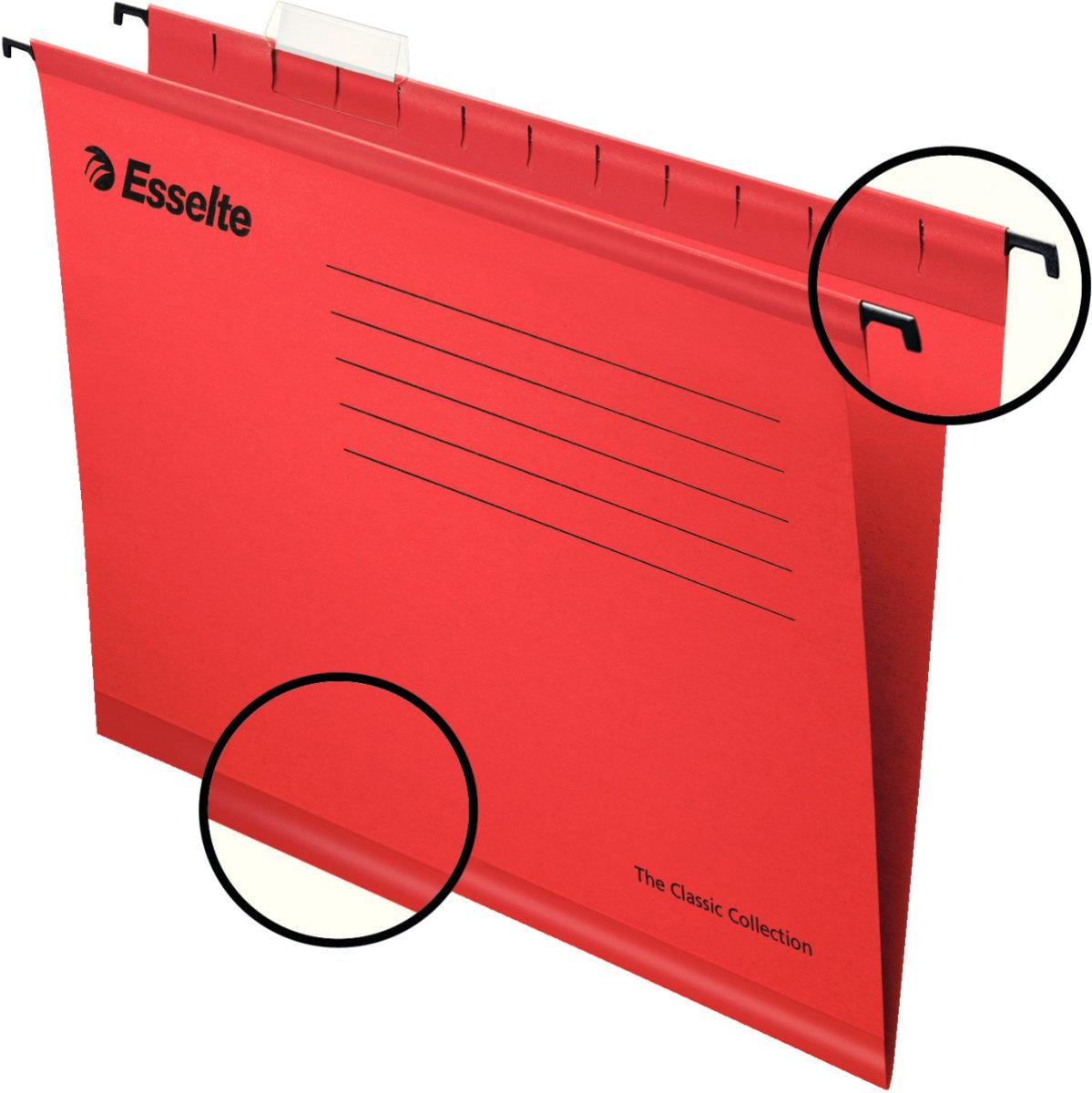 Esselte Standard hængemapper folio, rød