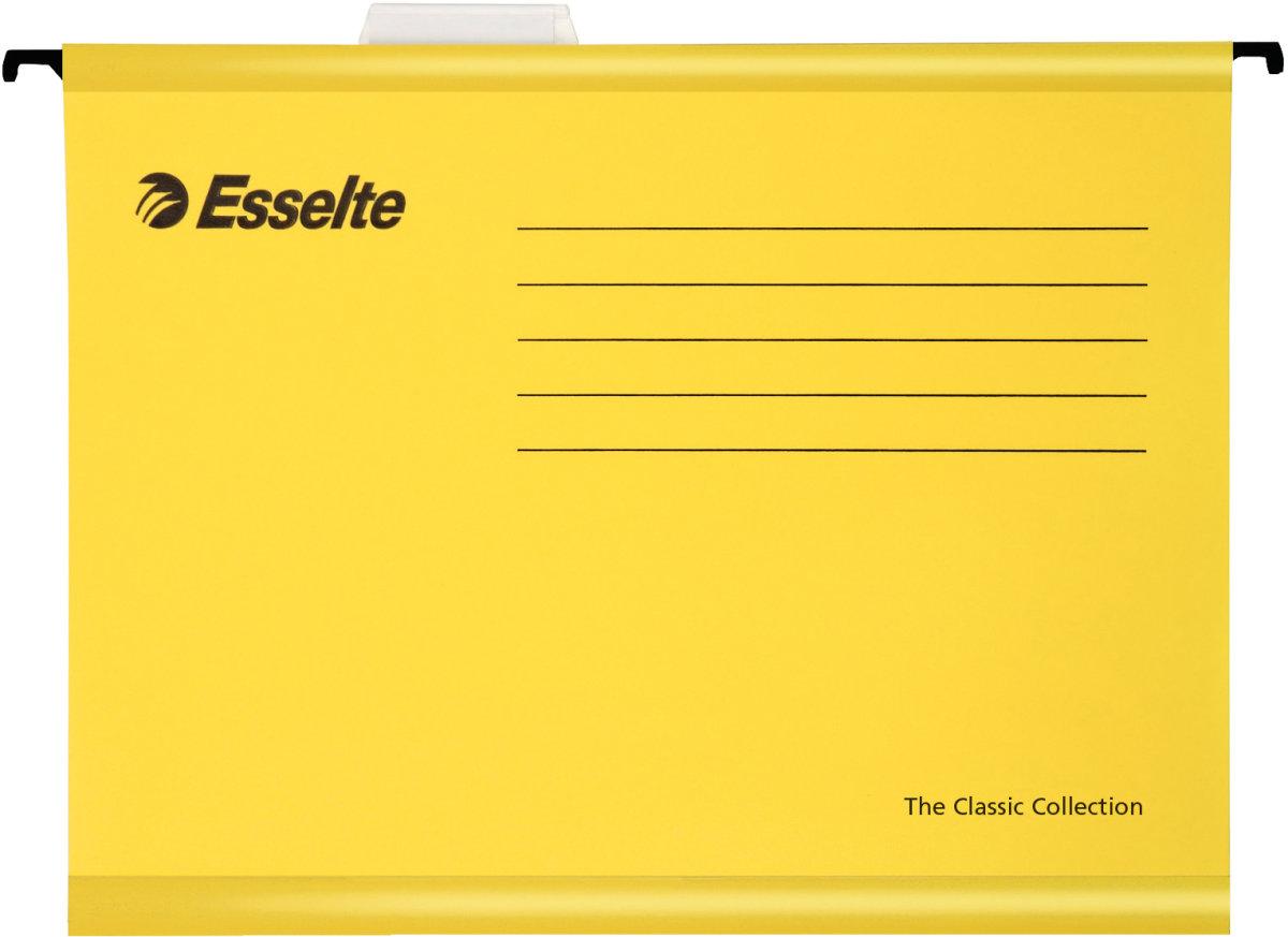 Esselte Standard hængemapper folio, gul