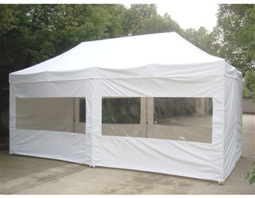 EASY UP Pavillon 3x6 m i off-white inkl. sider