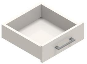 Jive+ enkelskuffe m/lås hvid decor laminat D35 cm