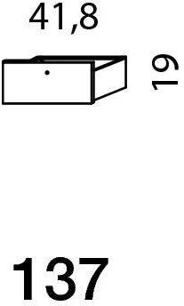 Mistral sektion 137 Skuffe grafit grå